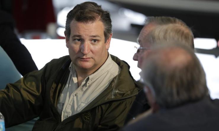 Ted Cruz in Corpus Christi, Texas Tuesday.