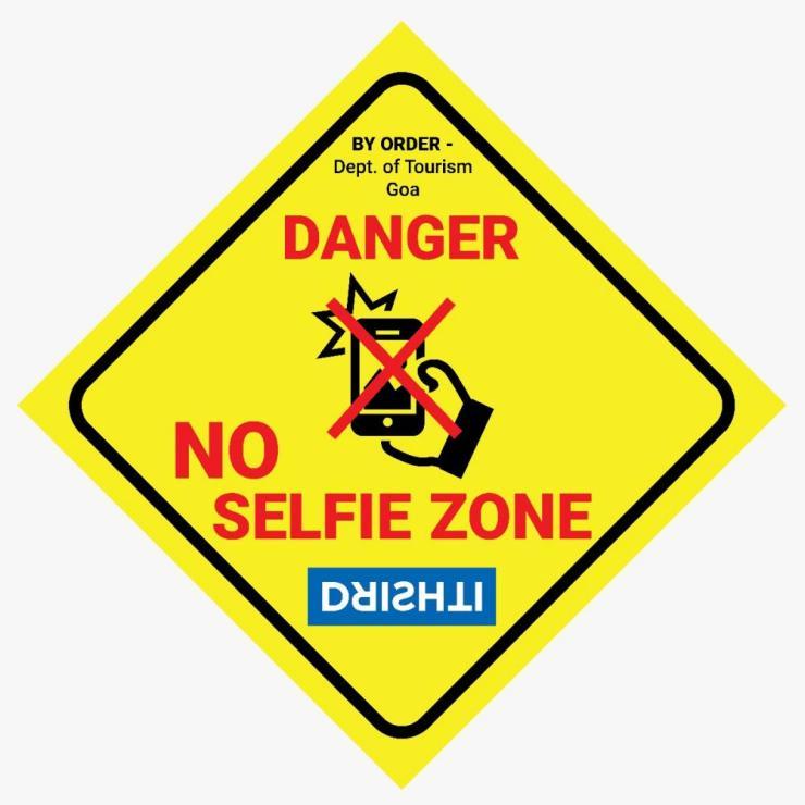Goa's 'no-selfie zone' signage.