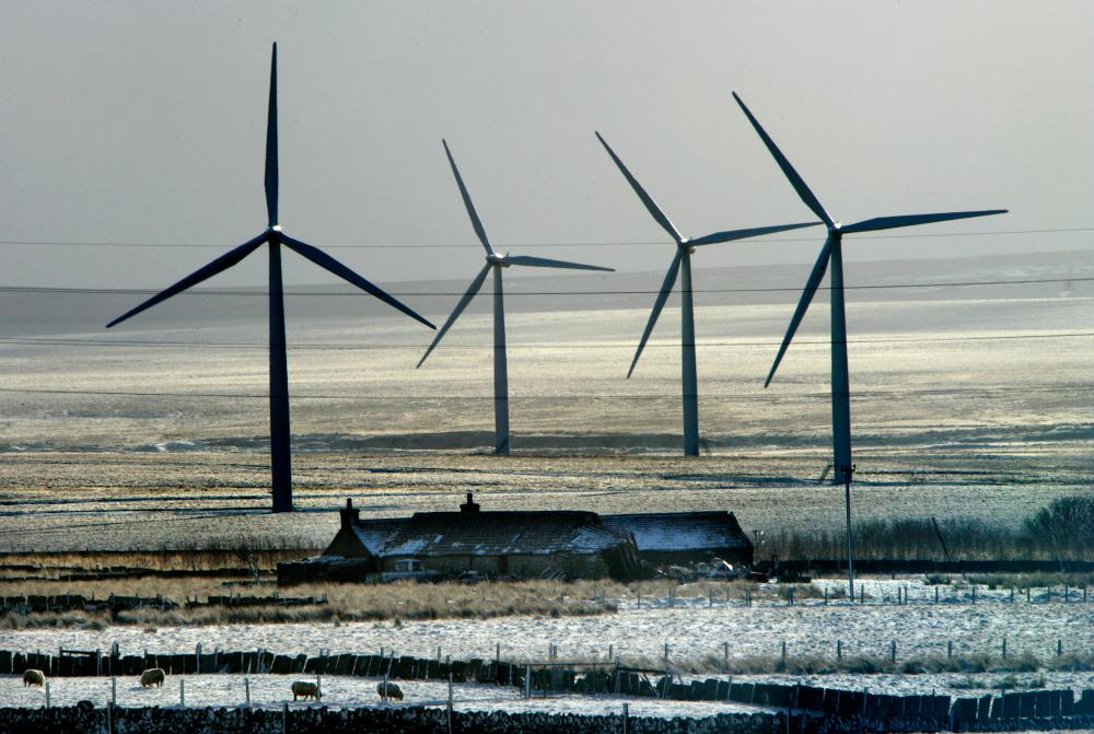 A windfarm in Caithness, Scotland