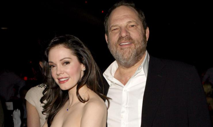 Rose McGowan and Harvey Weinstein in 2007.