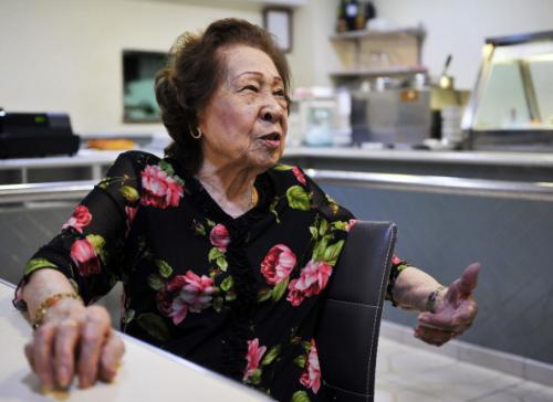 Aida de Jesus, owner of the Riquexo Cafe and the unofficial godmother of Macanese cuisine.
