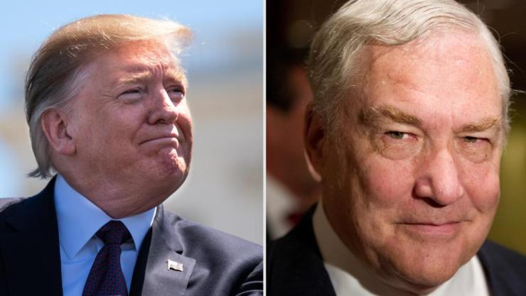 Left: Donald Trump, Right: Conrad Black.