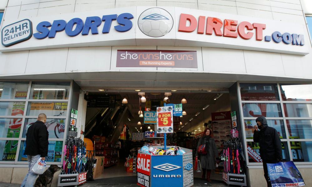 Sports Direct falls