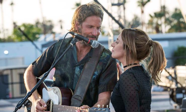 Bradley Cooper and Lady Gaga in A Star is Born