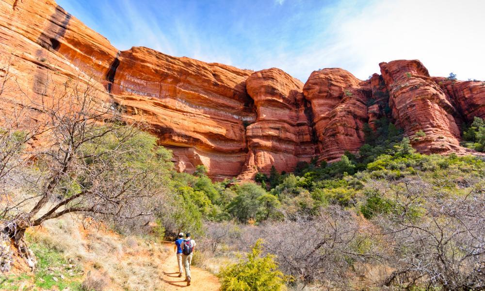 Hikers at Palatki Ruins, Sedona, Arizona