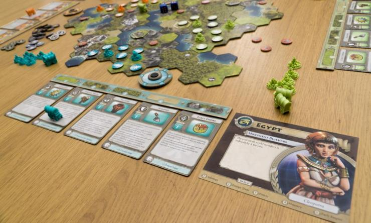 You'll command your empire using a set of action cards, upgrading your abilities as your civilisation becomes more advanced.