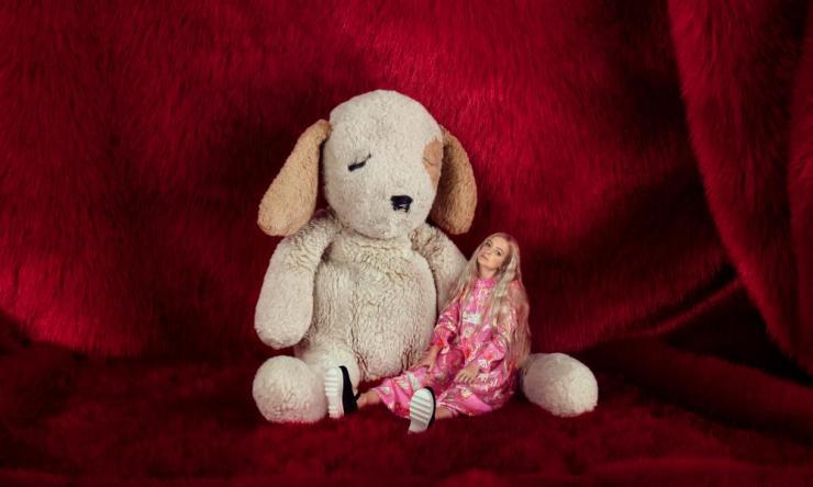 Enjoying a cuddle: Hannah Weiland with DogDog.
