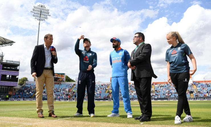 England win the toss and will field.