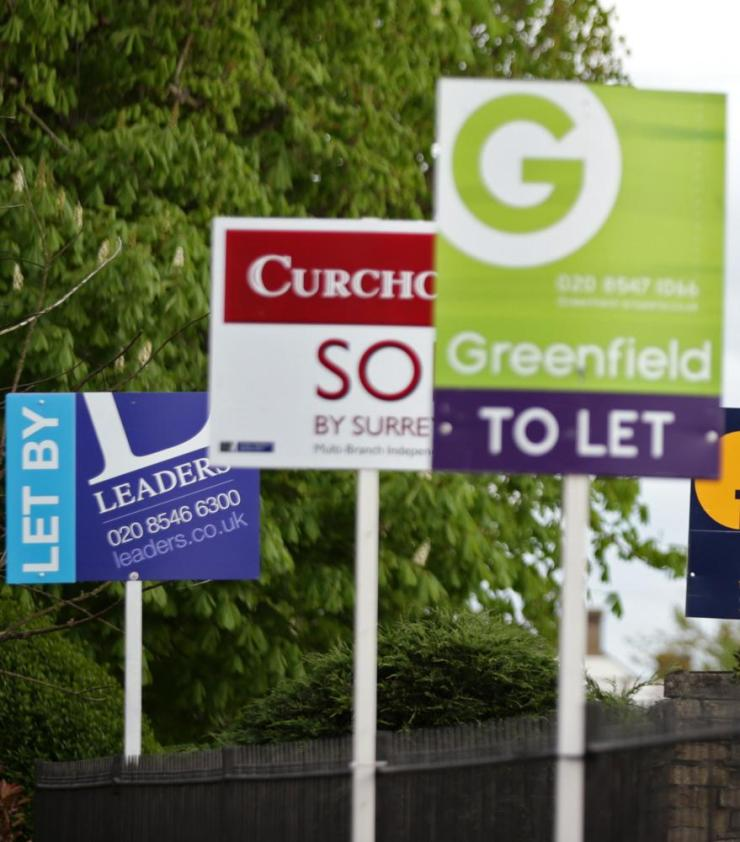 Letting agents signs, in London.