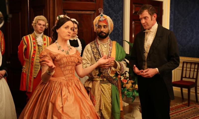 Amanda Root and Satinder Sartaaj in The Black Prince