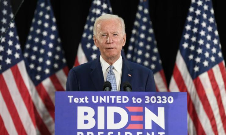 Joe Biden speaks during an event in Dover, Delaware, on Friday.