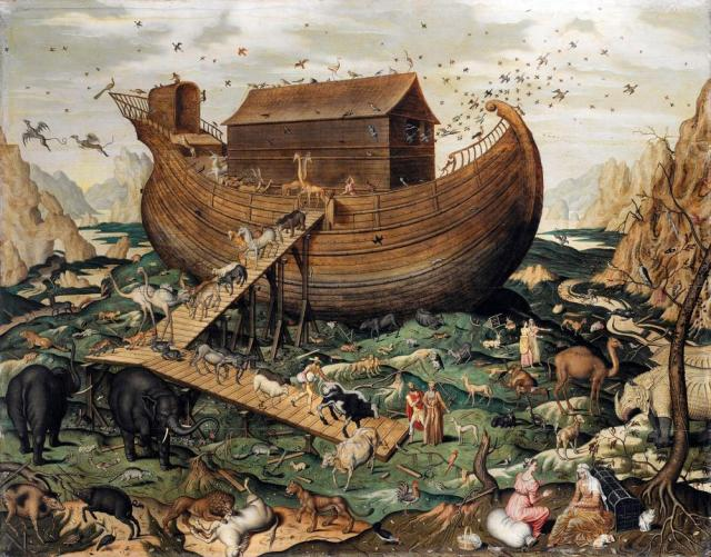 How many animals did Moses take on to the Ark?