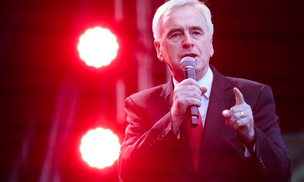 Labour shadow chancellor John McDonnell.