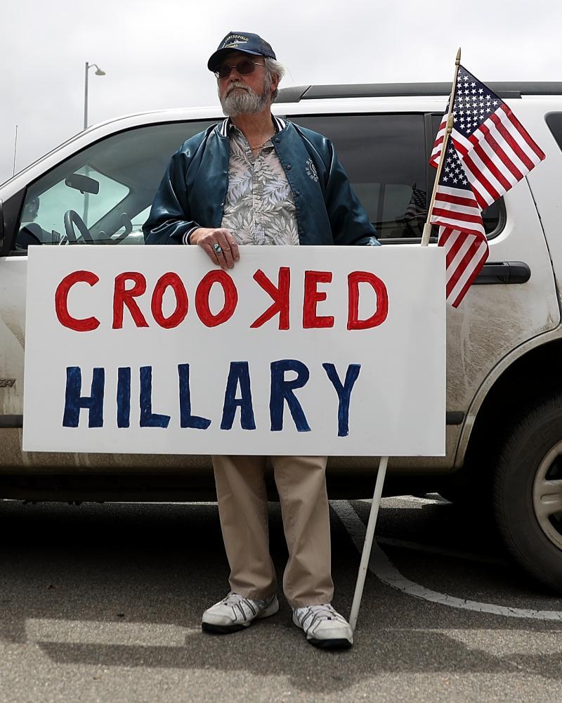 Clinton protester
