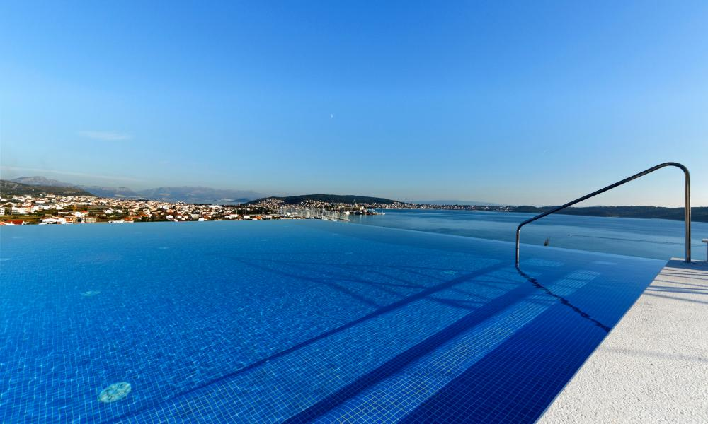 Here to infinity: the pool at the Hotel Ola.