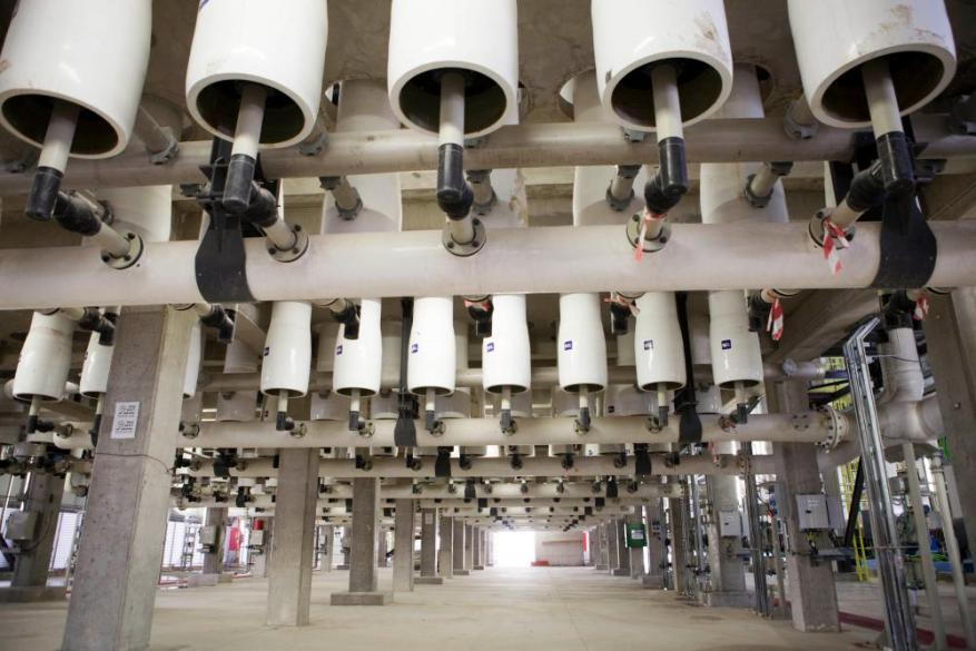 The Sorek water desalination plant – the world's largest – in Rishon Letzion, Israel