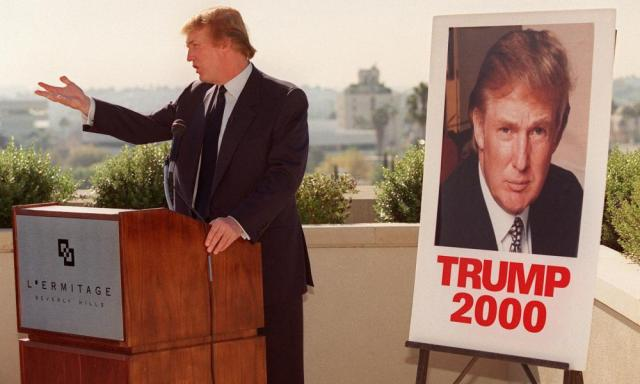 Donald Trump testing the political waters in California.