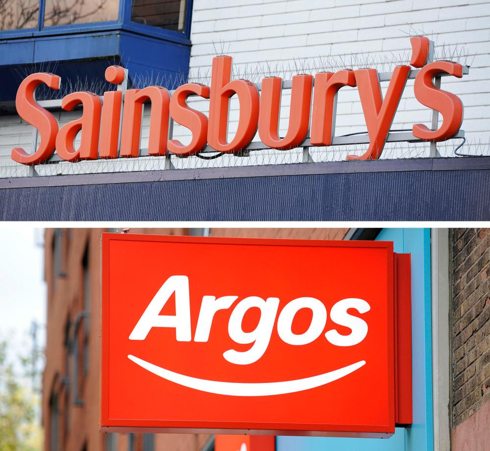 Sainsbury's bid for Home Retail GroupUndated file photos of the store logos of Sainsbury's, which has launched a £1.3 billion bid for Home Retail Group, owners of Argos and Homebase. PRESS ASSOCIATION Photo. Issue date: Tuesday February 2, 2016. See PA story CITY Sainsbury. Photo credit should read: PA Wire