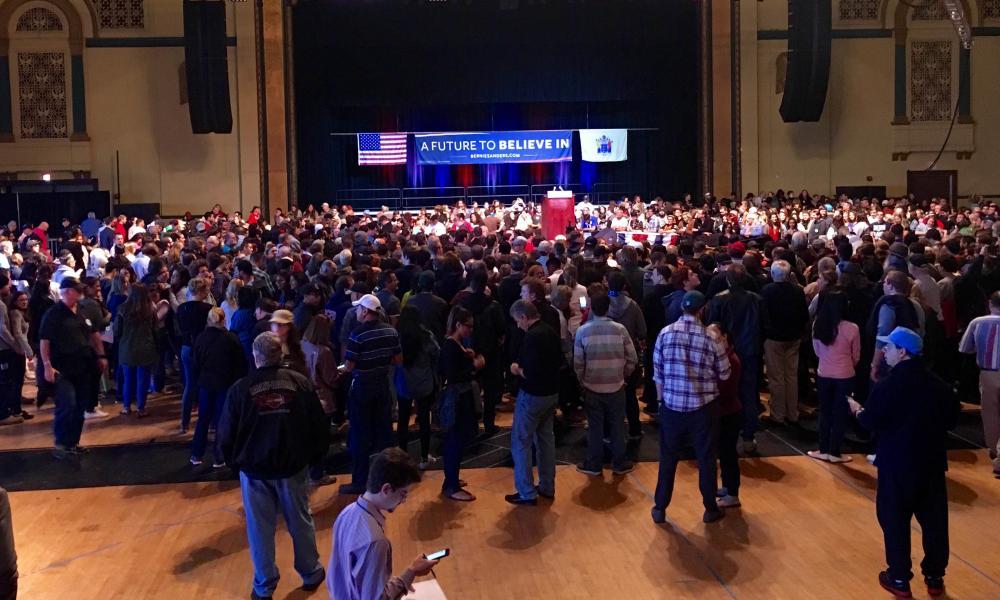 The crowd inside Boardwalk Hall.