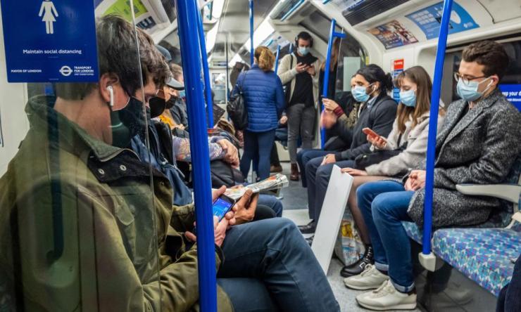 Passengers on the London underground last week.