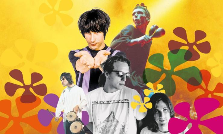 Faces of indie-rave (clockwise from left): The Stone Roses, Primal Scream, Happy Mondays and the Beloved.
