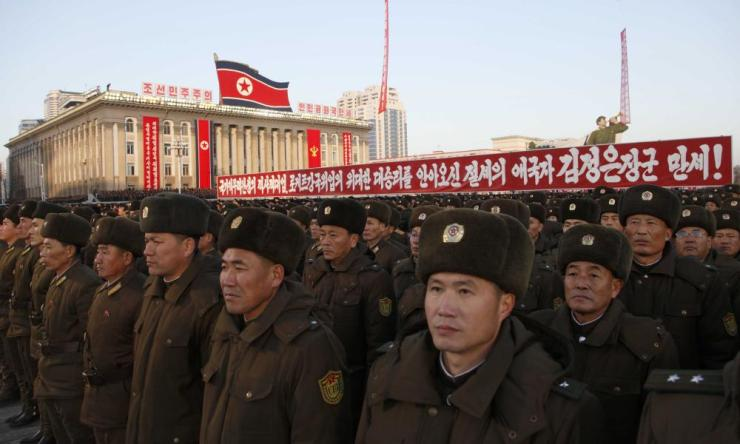 Tens of thousands of North Koreans attended a rally in Pyongyang's central Kim Il Sung Square in December in a show of support for the country's latest missile test.