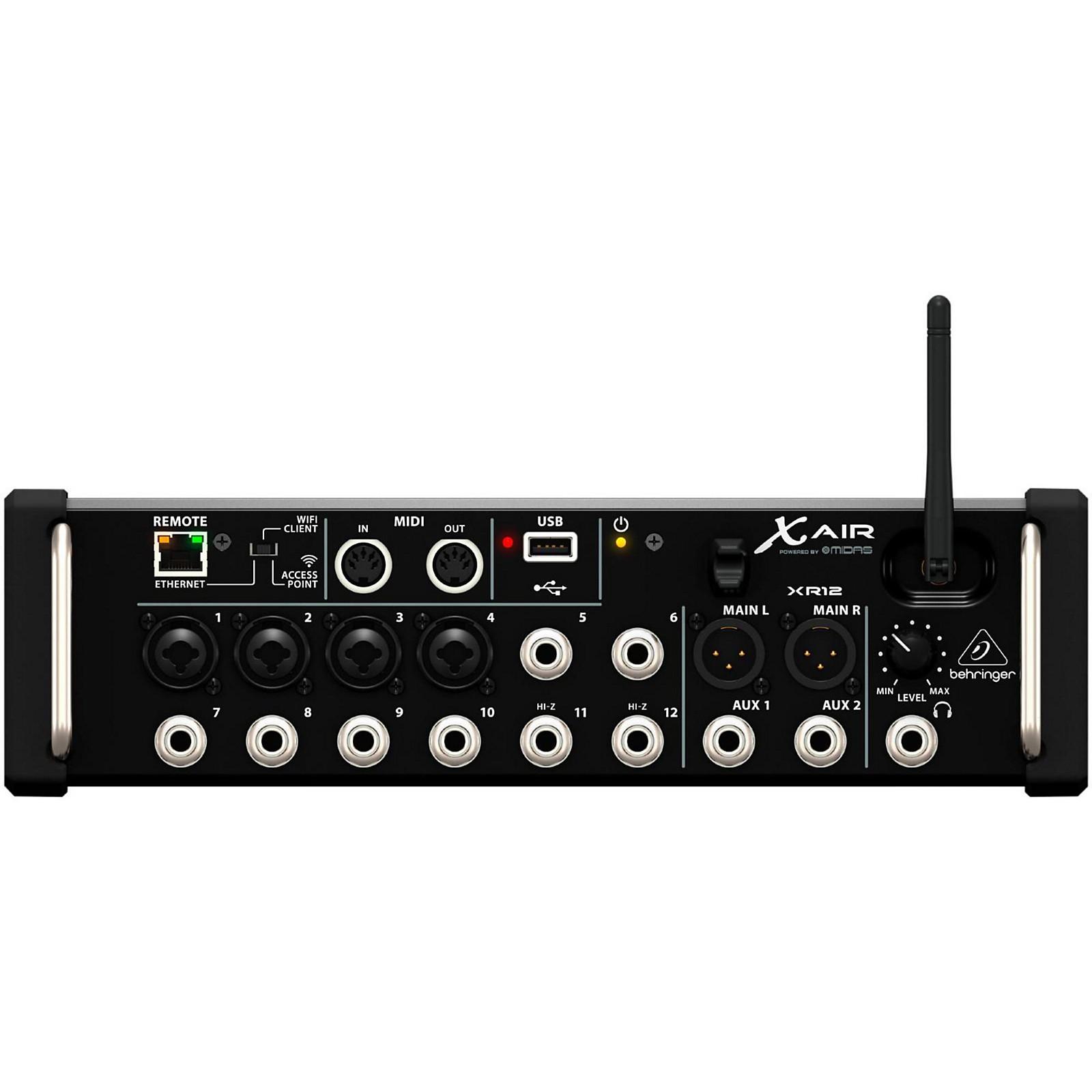 behringer behringer x air xr12 digital rackmount mixer