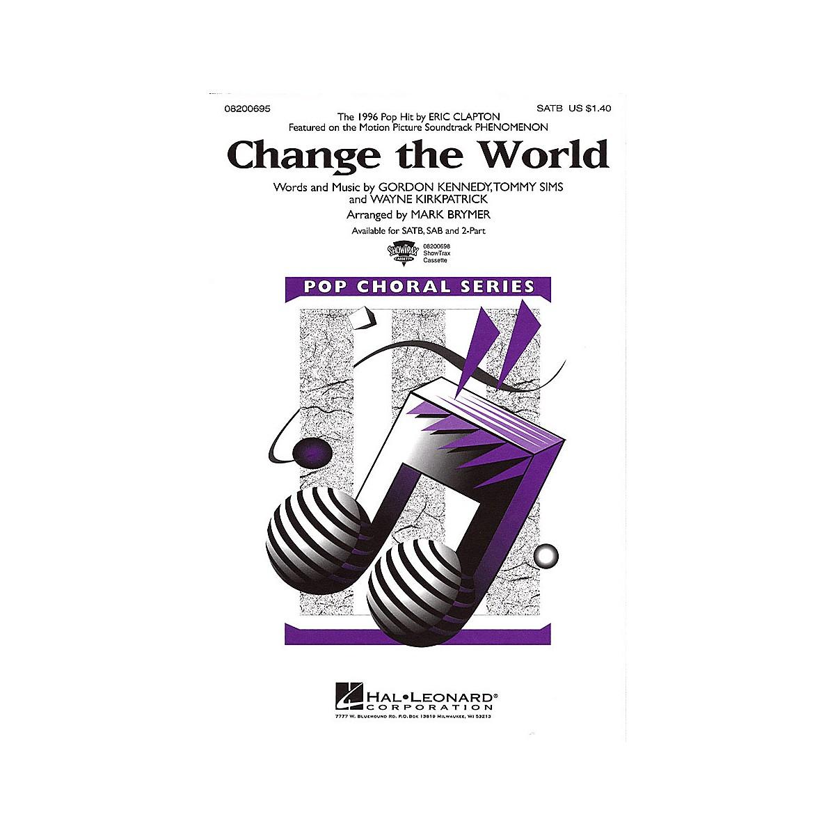 Hal Leonard Change The World Sab By Eric Clapton Arranged