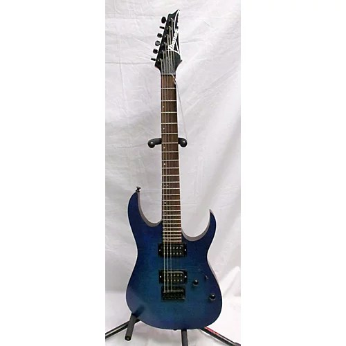 Used Ibanez Rg Fm Solid Body Electric Guitar Trans Blue