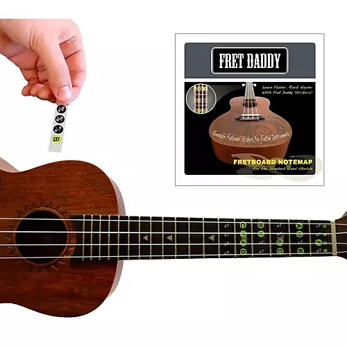 Fret Daddy The Ukulele Fretboard Note Map | Guitar Center