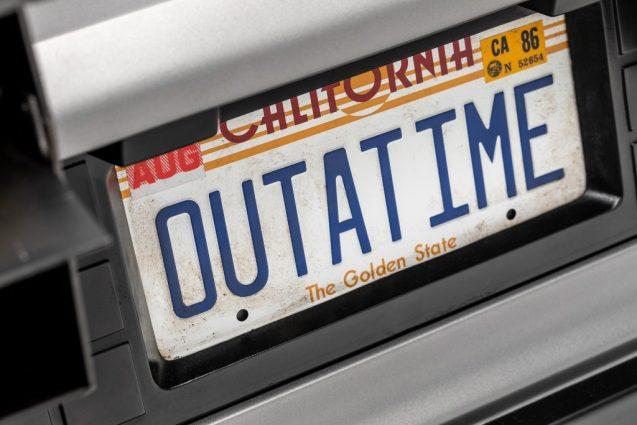 Back to Future DeLorean plate