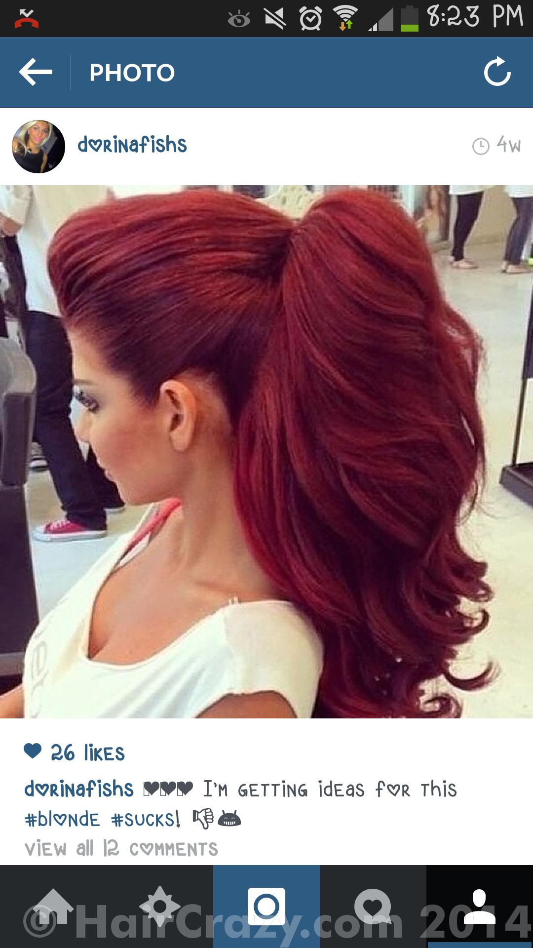 Going Purple Or Ombre PurpleRed From Red No Bleach