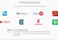 امکان استفاده از کارتهای هر پنج بانک بزرگ کانادایی در سرویس Apple Pay