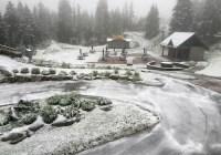 بارش برف تابستانی در کوههای شمال ونکوور