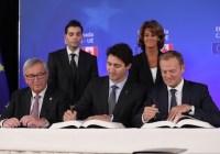 توافقنامهٔ جنجالی تجارت آزاد بین کانادا و اتحادیهٔ اروپا امضا شد