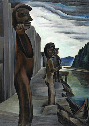 نقاشی بلاندن هاربر، اثر امیلی کار در سال ۱۹۳۰