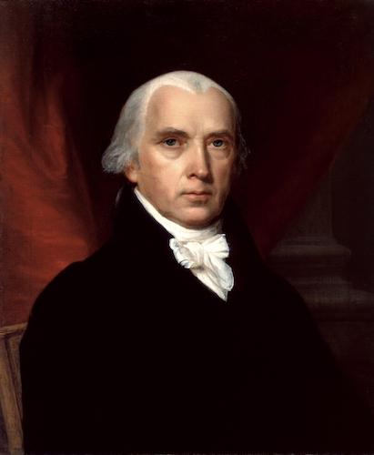 جیمز مدیسون، رئیسجمهور ایالات متحدهٔ آمریکا از سال ۱۸۰۹ تا ۱۸۱۷