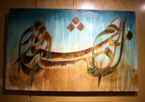 گزارش تصویری از اولین نمایشگاه انفرادی خط و نقاشی مجتبی دانشی در ونکوور