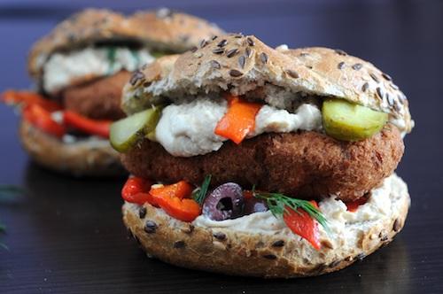 دو نوع ساندویچ خوشمزهٔ گیاهی