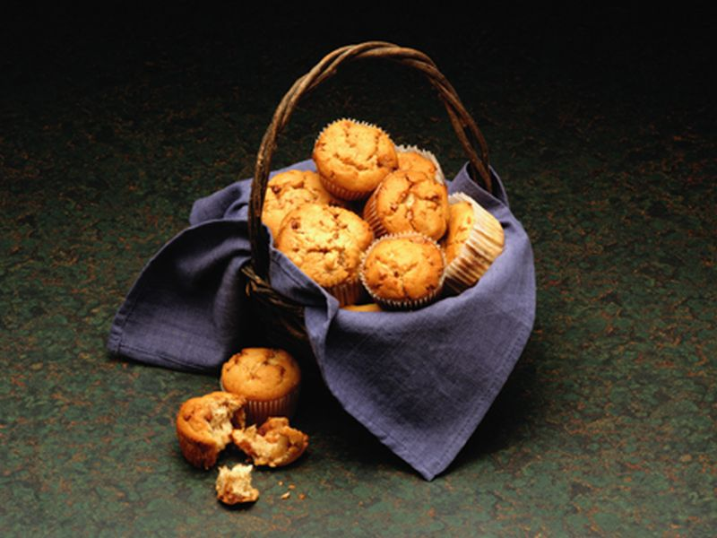 News Picture: Brighten Your Breakfast With a Lighter Blueberry Muffin