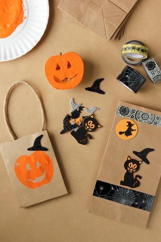 Easy Halloween Paper Bag Crafts Hallowen