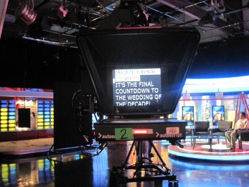 Tele-prompter at ReelzChannel