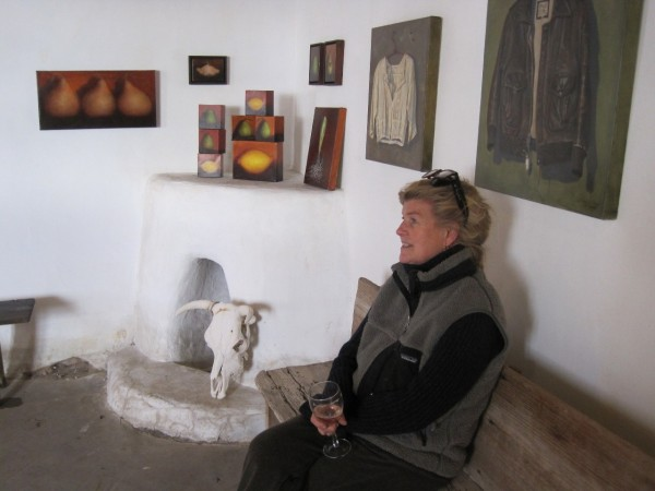Anna Karin Sitting in the Art Gallery