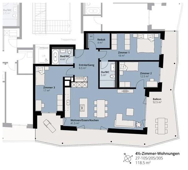 Erstvermietung - grosszügige 4½-Zimmer-Wohnung 'neumatt-stein.ch