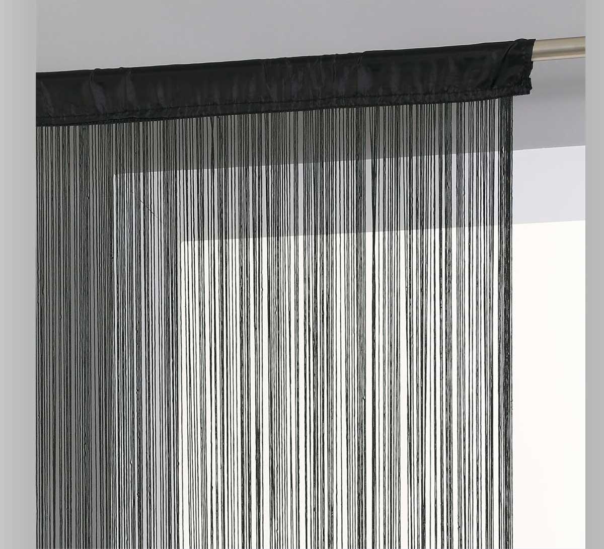 rideau fil noir