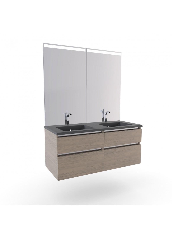 meuble salle de bain col chene double vasques stone chene