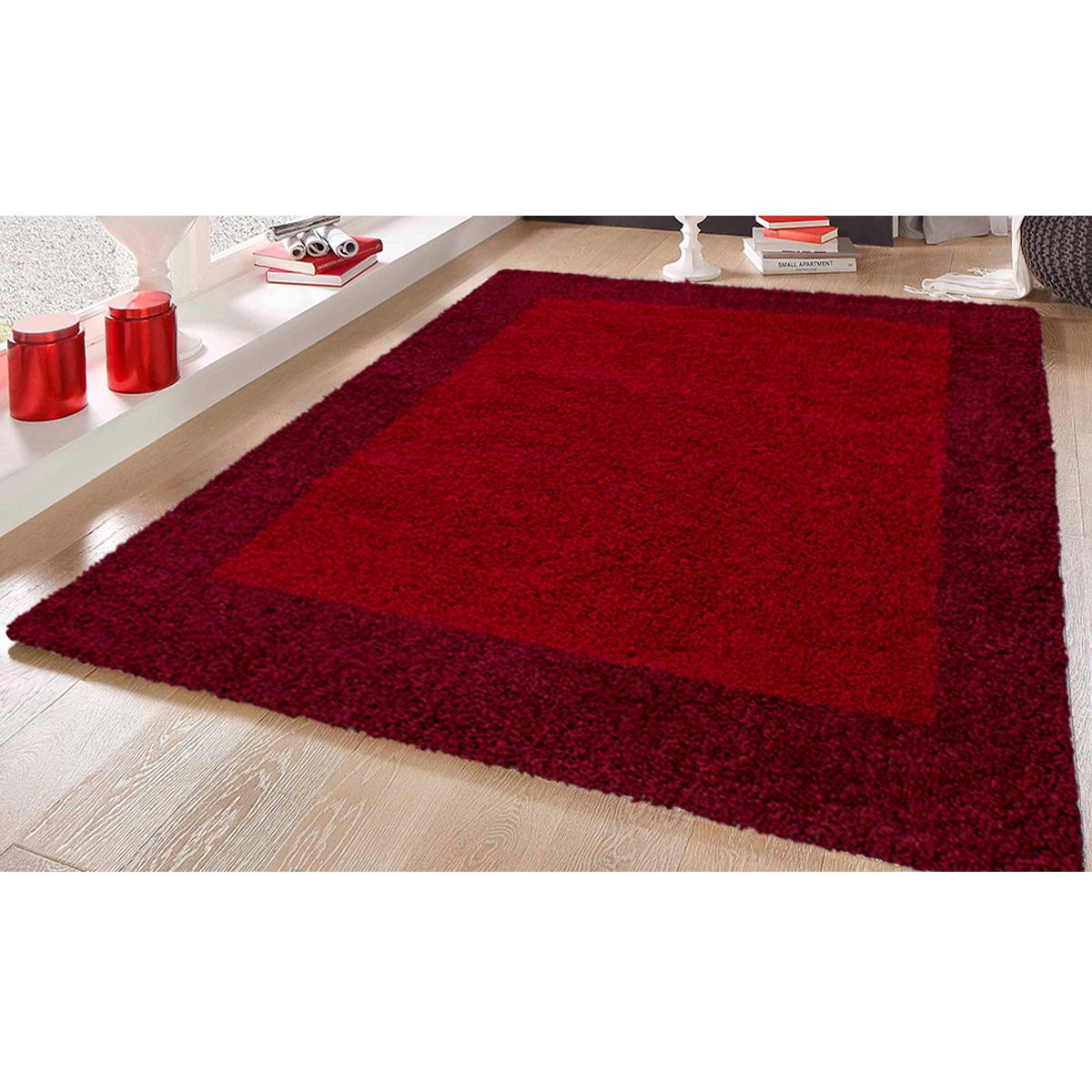 tapis deco en 2 tons rouge
