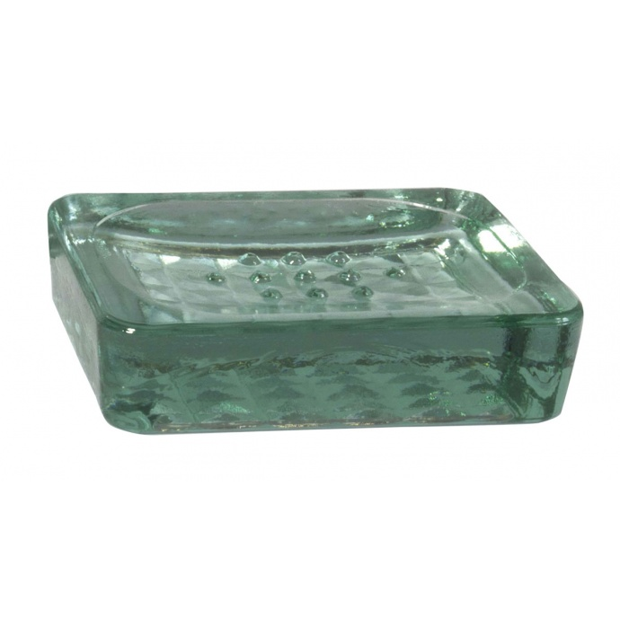 porte savon en verre transparent