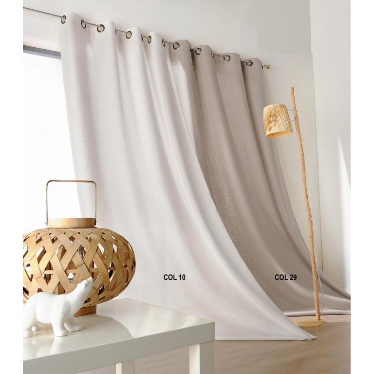 rideau naturel en 100 lin beige
