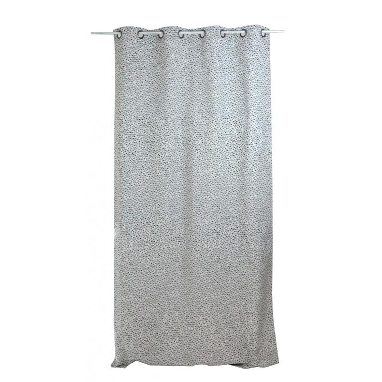 rideau graphique en jacquard noir et blanc homemaison vente en ligne tous les rideaux